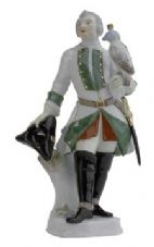 Meissen Porcelain Figurine - Man with Hawk and Hat